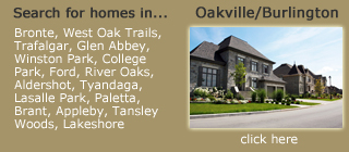 Search for Homes in Oakville/Burlington