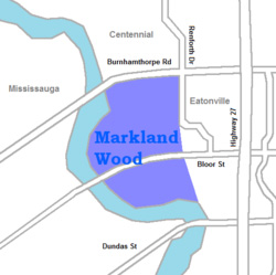 Markland Wood Map