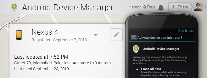 andoid device manager